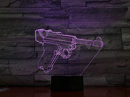 3D Luz Nocturna Lámpara De Noche Cambiante De 16 Colores /Con Mando A Distancia Botón Táctil Y Cable Usb Illusions Luz Nocturna Regalos De Cumpleaños Para Niños Y Adultos