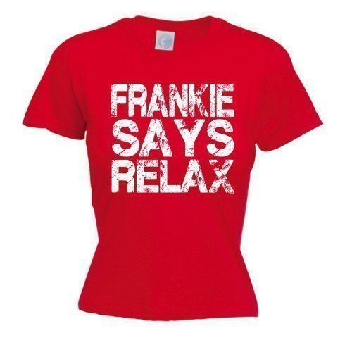 Ladies Frankie Say Relax Shirt Red - S to XXL