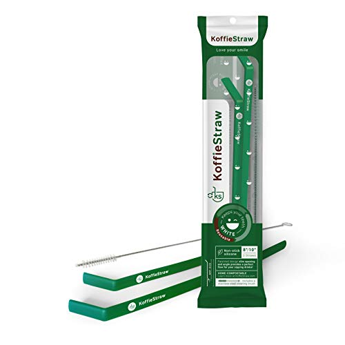 Koffie Straw Reusable KoffieStraws to limit stains on your teeth (Green)
