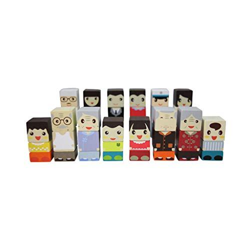 LIUFS-JOUET Building Blocks Family Wooden Toys Souvenir Puzzle Gift Ornaments Enfants (Taille : L)