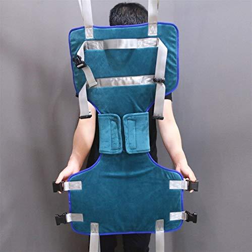 41I5vWjuMXL - XIAORANA Arnés para traslados, Arnés de Elevación de Paciente de Cuerpo Completo, para grúa de 4 Pinzas, Superacolchado, para Posicionamiento Y Elevación De La Cama, Enfermería (Dimension : Medium)