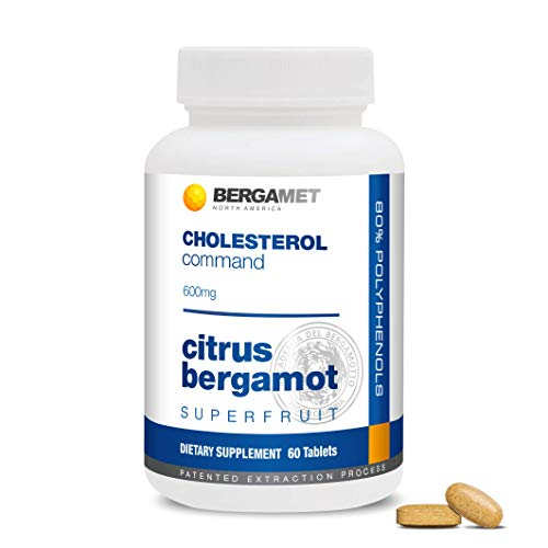 Citrus Bergamot SuperFruit | Cholesterol Command | 80% Polyphenol Formula | Maintain Healthy Cholesterol, Heart & Blood Glucose Levels | High Strength | Supported by Clinical Studies | 1 Month 60 Tabs