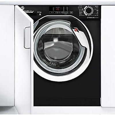 Hoover HBDS 485D1ACBE-80 8+5Kg 1400 Rpm Integrated Washer Dryer, Black