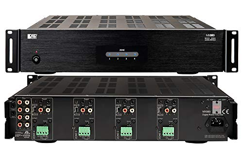 OSD Audio 4 Zone 8-Channel Digital Amplifier, 80W/Channel, Distributed Audio & Home Theater - MX880