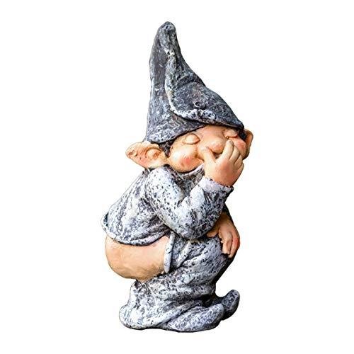 garden gnome pooping statue