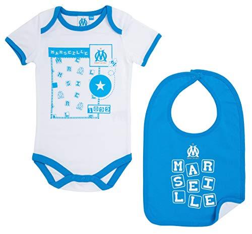 OLYMPIQUE DE MARSEILLE Set Body Bavoir Om bébé - Collection Officielle Taille garçon 18 Mois