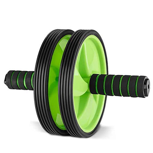 CHENMAO Rodillo abdominal AB para el ejercicio abdominal y del estómago El entrenamiento de la fuerza del ejercicio del estómago rueda de entrenamiento para el gimnasio para el hogar con asas antidesl