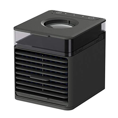 Lamta1k Ventola di raffreddamento ad aria, umidificatore portatile per condizionatore d'aria regolabile per casa, ufficio, ventola di raffreddamento UV, colore nero con luce UV