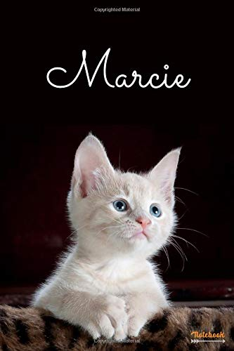 Marcie - Notebook: Personalized name journal « Marcie » | Birthday Gift For Women & Girl, Mom, Sister ..| Lined Journal, 110 Pages, size 6 x 9