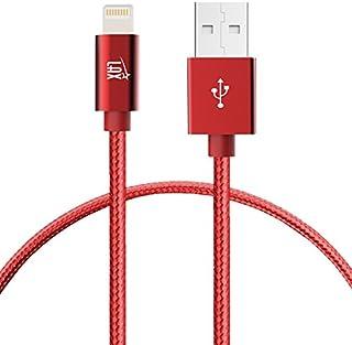 كبل شاحن آيفون لايتنينج - [معتمد من MFI] كبل USB مضفّر ومتين 4 Feet LGHTCBLMFI4FT-RED