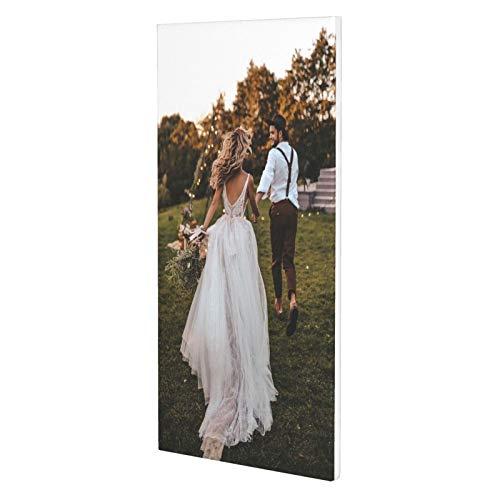 Personalice su imagen personalizada My Photo Wall Picture Impresión en lienzo Diseñe su propio arte de pared único - Se admiten texto o nombre (25x50cm)