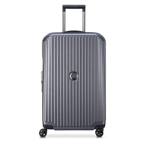 Security Zip Trolley Suitcase with 4 Double Wheels 68 cm