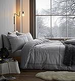 Sibiles Juego de Funda Nórdica de Franela 100% Algodón para Invierno Tacto Terciopelo Berwick Tweed (240x220 cm - Cama 150/160)