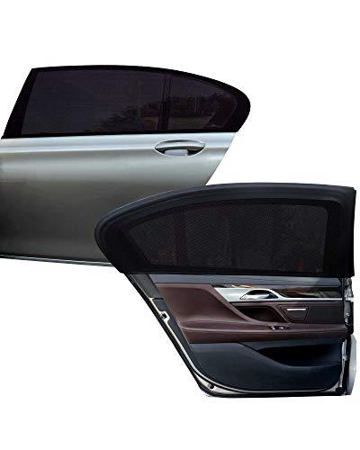 Tevlaphee Auto Sonnenshutz Kinder Universal Sonnenblende Auto Netz Sonnenschutz Auto Baby mit Zertifiziertem UV für Seitenfenster Meshmaterial Schützt Mitfahrer, Baby, Kinder Haustiere (XL)