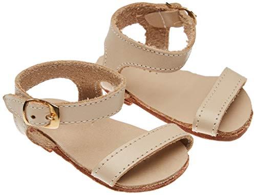 Marienkäfer Péz- Sandalen Leder beige Zubehör Farbe Kleid Kollektion eigenes Design (Handelsübliches Spielzeug Maripe sl 1)