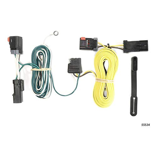 CURT 55534 Vehicle-Side Custom 4-Pin Trailer Wiring Harness for Select Chrysler 300, Dodge Challenger, Charger