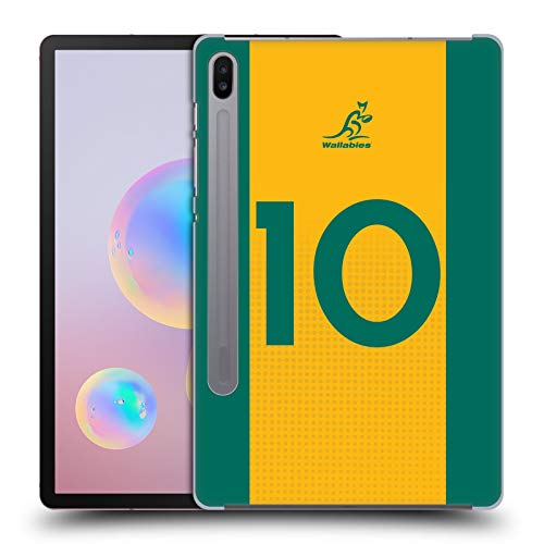 Official Australia National Rugby Union Team Position 10 2020/21 Players Kit Hard Back Case Compatible for Samsung Galaxy Tab S6 (2019)