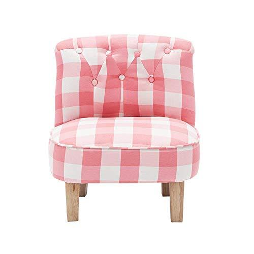 Living Equipment Sala de estar Cojines para sillas Sofá para niños Sofá Sala de estar para niños Toler Furniture Brazo Sillones tapizados Asiento para juegos relajantes Descansar (Color: Pink Size: