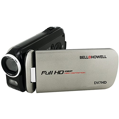 bell howell cheap camcorders Bell+Howell DV7HD-GY Slice2 HD Video Recording Slice2 DV7HD Full 1080p HD Camcorder with Touchscreen and 60x Zoom