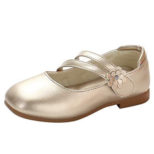 YWLINK Zapatos para NiñOs,NiñAs De Los NiñOs Flores Dulces Zapatos PequeñOs Zapatos De Princesa Zapatos Solos Zapatos Frescos Zapatos De Princesa Zapatos De Baile(Oro,34EU)