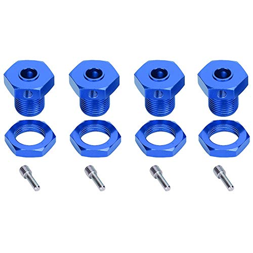 VGEBY Combinador de neumáticos RC, Adaptador de Cubo Hexagonal de Rueda de 5 mm/0,2 Pulgadas, acoplador de combinación de neumáticos para Coche TRAXXAS E-R EVO 1/10(Azul Oscuro)