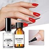 Manicure pinzatrice Nail Dehydrator e Primer Lunga Durata Nail Prep Disidratare e Acid Free Bonding Primer Set per Polvere acrilica e Smalto Gel