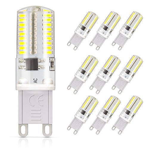 DiCUNO Lampadina LED dimmerabile Base G9, equivalente a 30 W (3 Watt), Luce Bianca Diurna, 6000 K, 220 V, Modello Corn, Daylight White, 220.00V