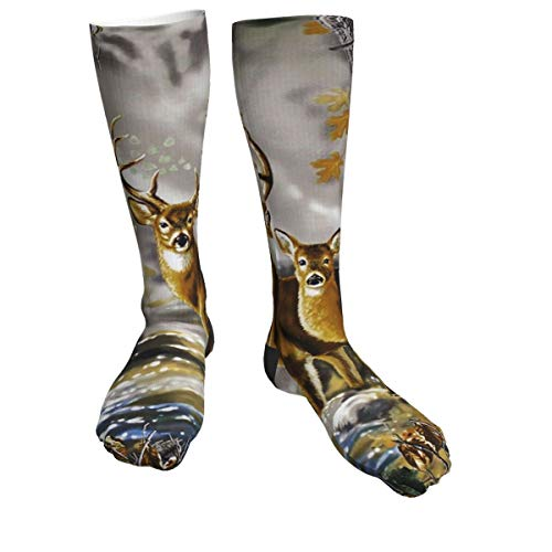 Real Tree Camouflage Deer Casual Socks Women & Men Warm Thick Moisture Control Tube Socks 50cm/19.7 Inch
