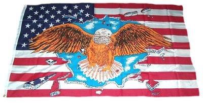 Fahne / Flagge USA Adler NEU 90 x 150 cm Flaggen
