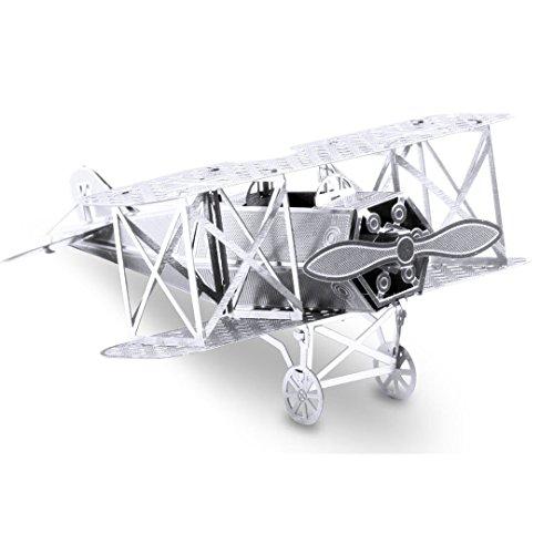 Fascinations Metal Earth MMS005 - 502500, Fokker D-VII, Konstruktionsspielzeug, 1 Metallplatine, ab 14 Jahren