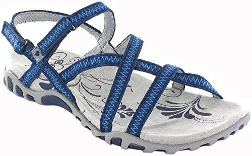 Izas   Sandalias Deportivas para Mujer Tena I   Sandalias de Trekking y Senderismo   Ligeras y Cómodas Diseñadas para Caminar   Poliéster   Cangrejeras   Verano   Cierre Velcro