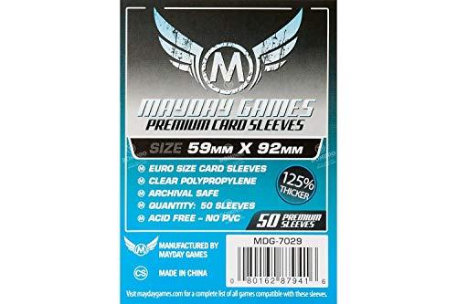 Preisvergleich Produktbild Mayday Games 59 x 92 mm Ärmel Euro Premium Kartenspiel (50er Packung)