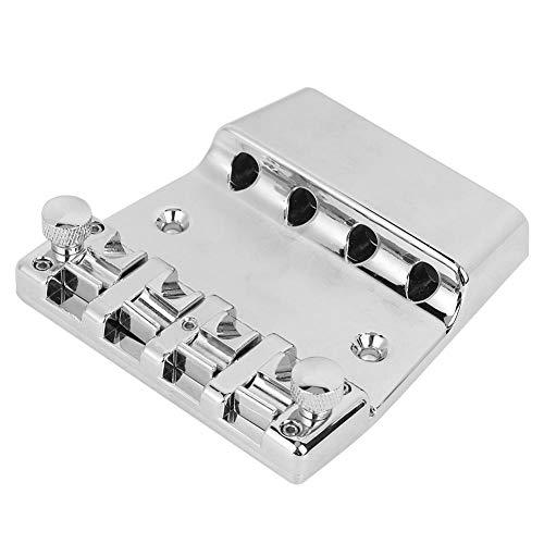 4-saitige Hardtail-Sattelbrücke mit fester Brücke und E-Bass mit Schraubenschlüssel und Schraube für E-Bass
