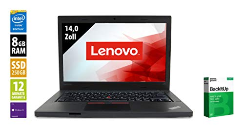 Lenovo ThinkPad L460 | Notebook | 14,0 Zoll | Pentium 4405U @ 2,1 GHz | 8GB RAM | 250GB SSD | WXGA (1366x768) | Webcam | Windows 10 Pro (Zertifiziert und Generalüberholt)