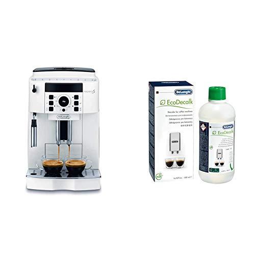 De'Longhi macchina per caffè espresso superautomatica ECAM21.110.W Magnifica S & ECODECALK Decalcificante Naturale, 500 ml