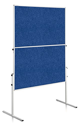 Legamaster 7-207100 Moderationswand Economy, faltbar, filzbespannt, 150 x 120 cm, blau