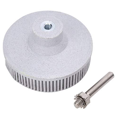 Cepillo de pulido, Disco de cerdas de buena elasticidad, Desbarbado funcional de esmeril de alta eficiencia para pulir Eliminación de óxido esmerilado(white)