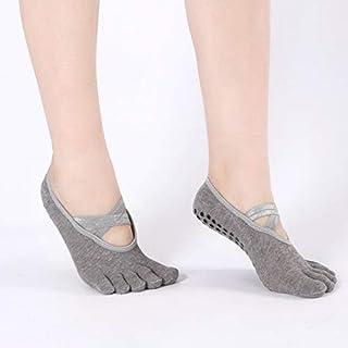 CUSHY hock Yoga Socks Ballet Cross- Backless Yoga Socks Cotton Professional Non-Slip Sports Boat Five-Finger Socks Wholesale: