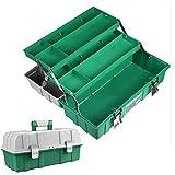 Caja de herramientas multifunción de 3 capas para el hogar, caja de almacenamiento plegable para carpintero electricista, 17 pulgadas Kyman