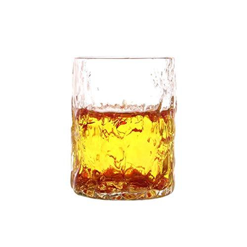 Tasse de verre tricotée à la main Tasse de petit-déjeuner résistant à la chaleur Boisson Jus de lait Tasse de ménage Coupe à boire de ménage Texture Crystal Clear JXLBB