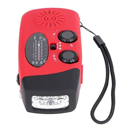 Linterna LED Radio de energía Solar Duradera y fácil de Usar, Radio...