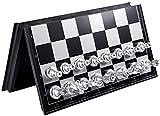 Juego de ajedrez portátil Juego de tableros de ajedrez de viaje Juegos Pieza de ajedrez magnético con plegable Tarjeta - Educativo para niños / adultos Regalo de juego tradicional Ajedrez de madera co