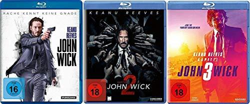 John Wick 1-3 Kapitel 1+2+3 / Teil 1+2+3 [Blu-ray Set]