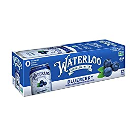 Waterloo Sparkling Water Blueberry Flavor Zero Calorie, Zero Sugar, Zero Sodium, Naturally Flavored Sparkling Water, 144 Fl Oz 1 FRESH RIPE BLUEBERRIES: This flavor greets you with a familiar blueberry scent, then delivers a balance of bright and fruity notes with a refreshing true-to-fruit finish your entire family will enjoy! CRISP BRIGHT FLAVOR: Waterloo's process of capturing aromatic extracts from real fruit for the ultimate concentration of intense, fruit flavor, brings you the perfect sparkling beverage, better than high-sugar sodas. A NEW KIND OF REVOLUTION: Waterloo Sparkling Water delivers you the freshest fruit flavors with tantalizing aromatics for a delightfully bubbly drink infused with real fruit for a deliciously light, natural flavor.