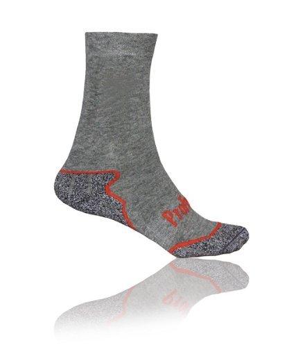 Pro feet mid grey/red chaussettes de ski Gris Gris 39-42