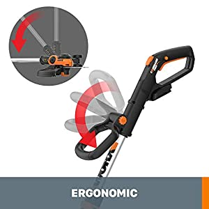 """WORX WG163.9 20V Cordless Grass Trimmer/Edger with Command Feed, 12"""" Tool Only, Battery And Charger Sold Separately"""