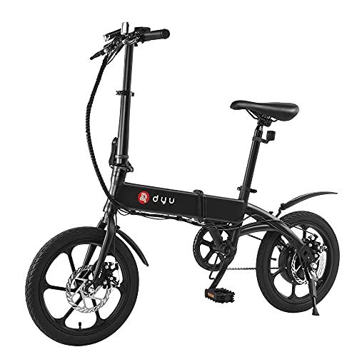 Bici elettrica, DYU 16'bicicletta elettrica Smart Folding Electric Bike, 240W motore 36V 5Ah batteria al litio E-Bike per adulti e adolescenti