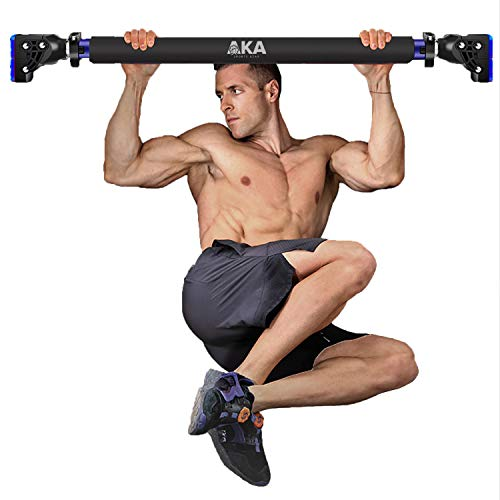 """AKA Pull Up Chin Up Bar, Upper Body Workout Door Exercise Bar Without Screw Installation, Doorway Pull up Bar with Locking Mechanism System, with 28.15"""" - 37.5"""
