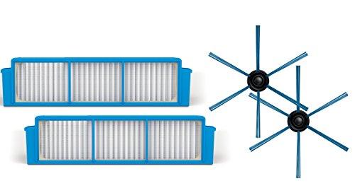 Philips FC8007/01 Kit 2 Ultrahygiene Hepa Filter 12 und 2 Seitenbürsten Kunststoff
