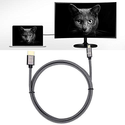 Gatuxe Cable de vídeo HD, compatibilidad con Varios Dispositivos, Micro Cable de 1,5 m / 1 m, 0,2 Pulgadas para Tableta de Oficina con TV en casa(1.5 Meters)